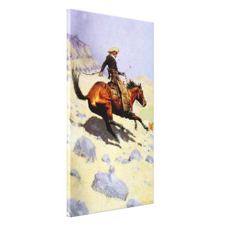 Vintage Cavalry Military, The Cowboy by Remington Canvas Print