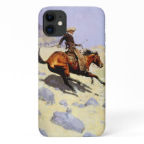 Vintage Cavalry Military, The Cowboy by Remington iPhone 11 Case