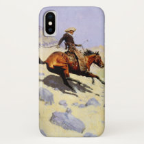 Vintage Cavalry Military, The Cowboy by Remington iPhone X Case