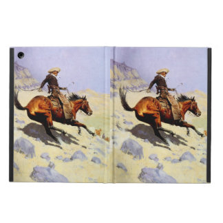 Vintage Cavalry Military, The Cowboy by Remington iPad Air Cases