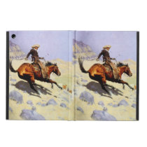 Vintage Cavalry Military, The Cowboy by Remington iPad Air Cover