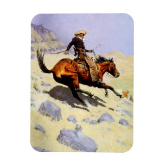 Vintage Cavalry Military, The Cowboy by Remington Magnet