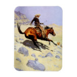 Vintage Cavalry Military, The Cowboy by Remington Rectangular Photo Magnet