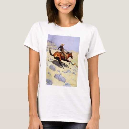 Vintage Cavalry Military, The Cowboy by Remington T-Shirt