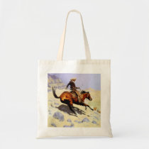 Vintage Cavalry Military, The Cowboy by Remington Tote Bag