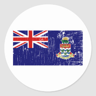 Vintage Cayman Islands Classic Round Sticker