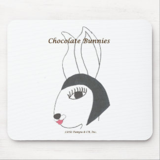 Vintage CBunnies Chic Bunnie Pad Mouse Pad