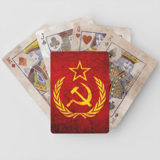Vintage CCCP flag Bicycle Playing Cards