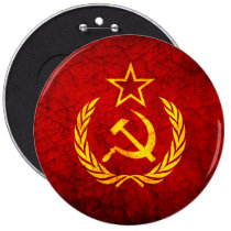 cccp, vintage, flag, rustic, hammer, cool, funny, ussr, pattern, retro, urban, dirty, old, sickle, russian federation, russia, patriot, Button with custom graphic design