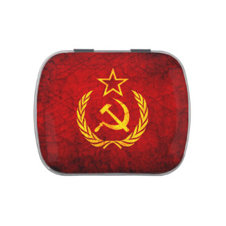 Vintage CCCP flag Jelly Belly Tin