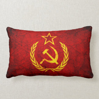 Vintage CCCP flag Throw Pillow