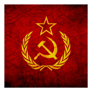 Vintage CCCP flag Poster