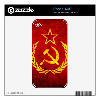 Vintage CCCP flag Skins For iPhone 4S