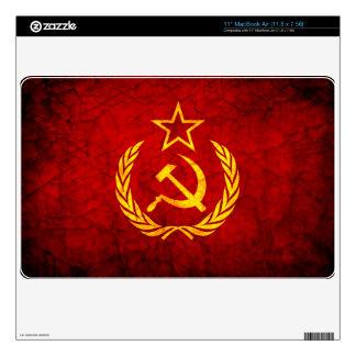 Vintage CCCP flag Skins For MacBook