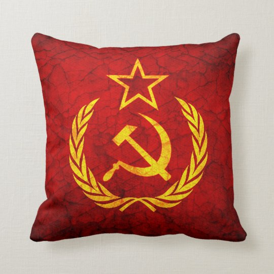 Vintage CCCP flag Throw Pillow