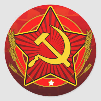 Vintage CCCP Hammer and Sickle Classic Round Sticker