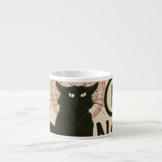 Vintage Ce Soir Le Chat Noir Poster Espresso Cup