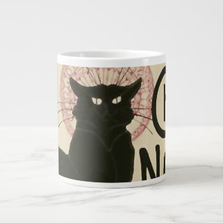 Vintage Ce Soir Le Chat Noir Poster Large Coffee Mug