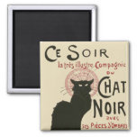 Vintage Ce Soir Le Chat Noir Poster Refrigerator Magnet