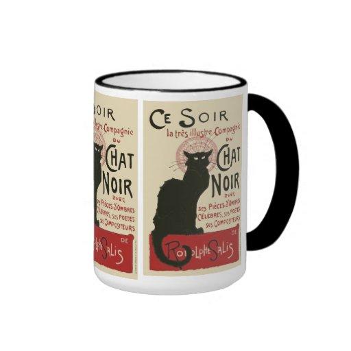 Vintage Ce Soir Le Chat Noir Poster Coffee Mug