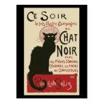 Vintage Ce Soir Le Chat Noir Poster Postcards