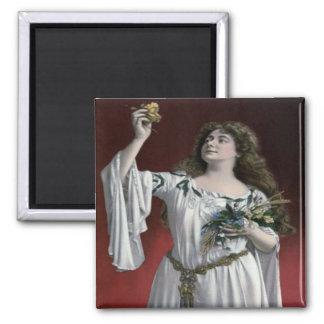 Vintage Cecilia Loftus Magnet