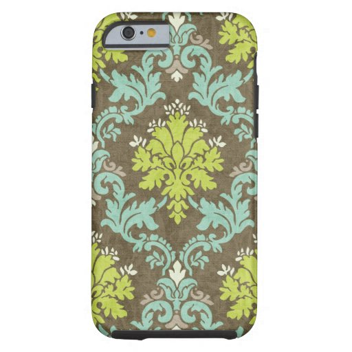 Vintage Celadon and Aqua Damask iPhone 6 Case