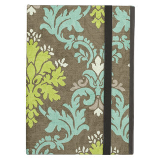 Vintage Celadon and Aqua Damask iPad Air Cover