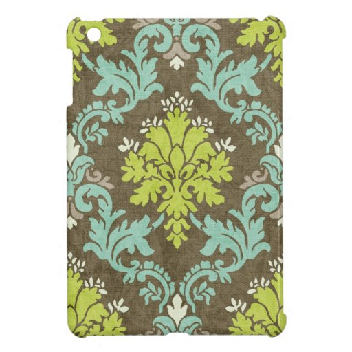 Vintage Celadon and Aqua Damask Case For The iPad Mini