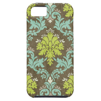 Vintage Celadon and Aqua Damask iPhone 5 Covers