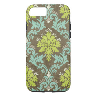 Vintage Celadon and Aqua Damask iPhone 7 Case