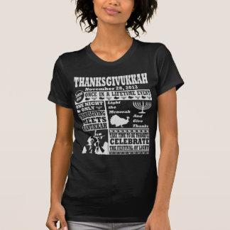 Vintage Celeberate Thanksgivukkah Newspaper Print T-Shirt