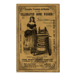 Vintage Celebrated Home Washer Advert Poster