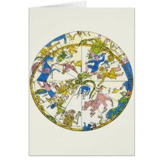 Vintage Celestial, Antique Constellation Map Stars Cards