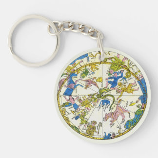 Vintage Celestial, Antique Constellation Map Stars Acrylic Keychain