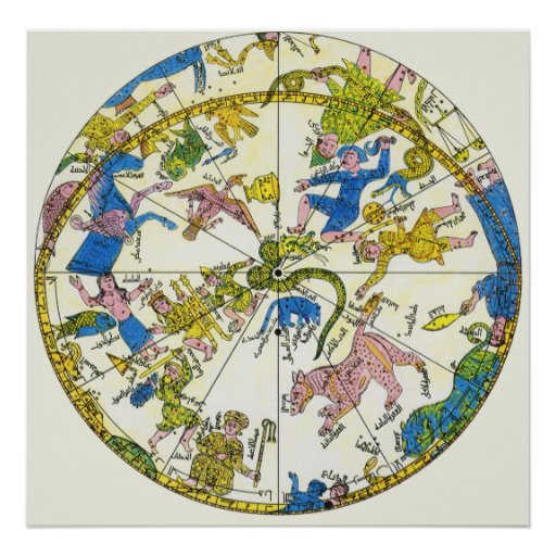 Vintage Celestial, Antique Constellation Map Stars Posters