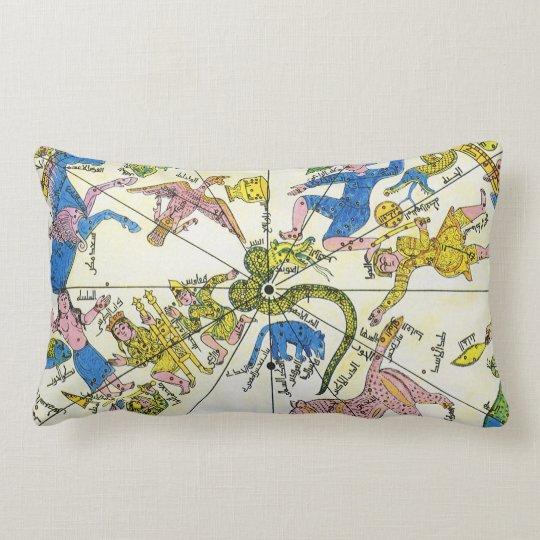 Vintage Celestial, Antique Constellation Stars Map Lumbar Pillow