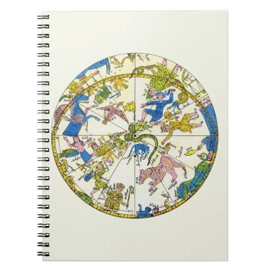 Vintage Celestial, Antique Constellation Stars Map Notebook