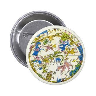 Vintage Celestial, Antique Constellation Stars Map Pinback Button