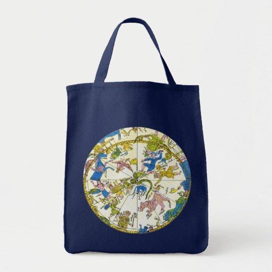 Vintage Celestial, Antique Constellation Stars Map Tote Bag