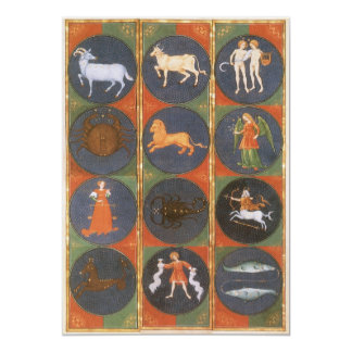 Vintage Celestial, Astrological Zodiac Chart, 1475 Card