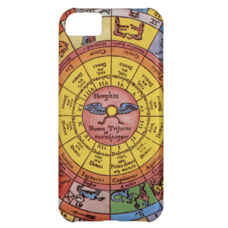 Vintage Celestial Astrology, Antique Zodiac Wheel iPhone 5C Covers