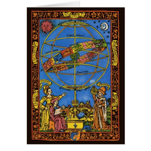 Vintage Celestial, Astronomer Claudius Ptolemy Greeting Card
