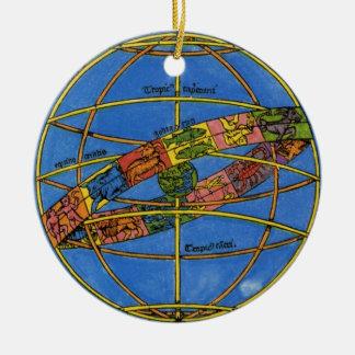 Vintage Celestial, Astronomer Claudius Ptolemy Ceramic Ornament