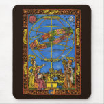 Vintage Celestial, Astronomer Claudius Ptolemy Mouse Pad