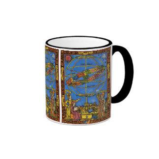 Vintage Celestial, Astronomer Claudius Ptolemy Ringer Mug