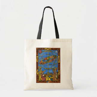 Vintage Celestial, Astronomer Claudius Ptolemy Tote Bag