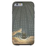 Vintage celestial, astronomía, reina de la noche funda para iPhone 6 tough