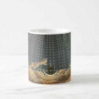 Vintage celestial, astronomía, reina de la noche tazas