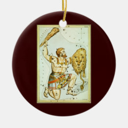 Vintage Celestial Astronomy, Orion Constellation Ceramic Ornament